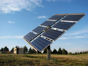 Solar Panels On Poll Away From Shade