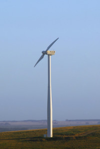 Wind Generator Turbin on a Wind Farm.